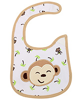 Buy Littles Baby Bibs - Monkey Face Print