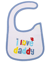 Buy Littles Baby Bibs - I Love Daddy Print