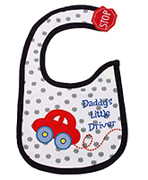 Buy Littles Baby Bibs - Car Print
