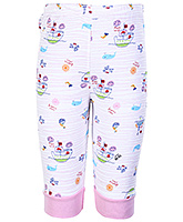 Buy Tango Full Length Legging with Cartoon Print - Pink and White