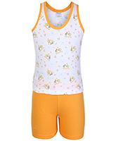 Buy Tango Sleeveless T-Shirt And Shorts Set - Orange