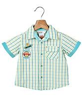 Buy Beebay Half Sleeves Shirt with Check Print - Blue