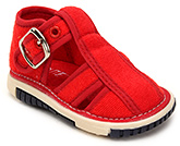 Buy Cute Walk Baby Sandals With Buckle Closure - Red