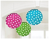 Buy Wanna Party Round Paper Lanterns Polka Dots -  3 Pieces