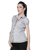 Morph Short Sleeves Striped Maternity Shirt