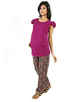 Buy Nine Full Length Pyjama with Ditsy Floral Print Multicolor