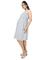 Buy Nine Maternity Neon Pleated Cotton Printed Dress
