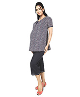 Buy Nine Half Sleeves Maternity Nursing Lounge Wear Set - Star Print