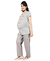 Buy Nine Full Length Maternity Comfy Pyjama In Ditsy Print