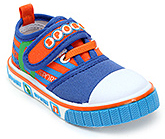 Buy Cute Walk Canvas Shoes with Sport Applique on Strap - Blue