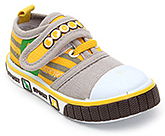Buy Cute Walk Canvas Shoes with Sport Applique on Strap - Grey
