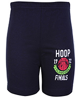 Buy Taeko Bermuda Shorts Navy Blue - Hoop Finals Print