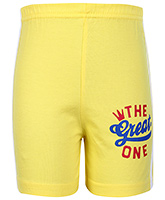 Buy Taeko Bermuda Shorts Yellow - The Great One Print