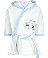 Carters Hooded Bathrobe - Car Print