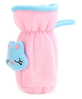 Babyhug Plush Bottle Cover Pink - Medium
