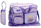 Buy Fab N Funky Diaper Bags Purple - Bicycle Embroidery