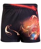 Buy Bosky Swimwear Fire Print Swimming Trunk - Black