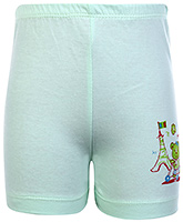 Buy Tango Printed Bermuda Shorts - Aqua Blue