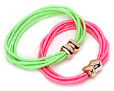 Buy Fab N Funky Hair Rubber Bands Green And Pink - Set of 2