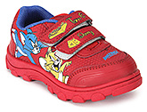 Buy Tom and Jerry Sport Shoes with Dual Velcro Strap - Red