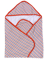 Buy Mee Mee Hooded Wrapper Wt Strip Print -  Orange