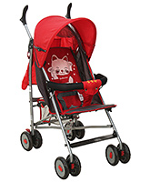 Fab N Funky Light Weight Stroller With Kitty Print - Red
