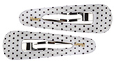 Fab N Funky Hair Clip Dotted Print Pack of 2 - White