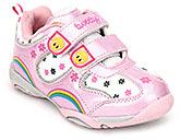 Buy Tweety Casual Shoes with Floral Print and Dual Strap Closure - Pink