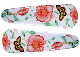 Fab N Funky Flower And Butterfly Print Snap Clips White And Multi Colour  - 1 Pair
