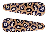 Fab N Funky Hair Clips Brown And Black - Leopard Theme