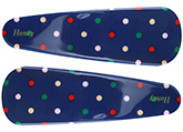 Buy Fab N Funky Multi Colour Dots Print Snap Clips Dark Blue - 1 Pair