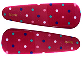 Buy Fab N Funky Multi Colour Dots Print Snap Clips Dark Pink - 1 Pair