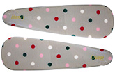 Buy Fab N Funky Multi Colour Dots Print Snap Clips Light Grey - 1 Pair