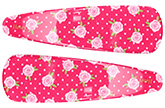 Buy Fab N Funky Rose Print Snap Clips Dark Pink - 1 Pair