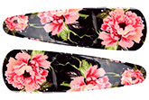Buy Fab N Funky Rose Print Snap Clips Black - 1 Pair