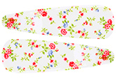 Buy Fab N Funky Flowers Print Snap Clips Off White - 1 Pair