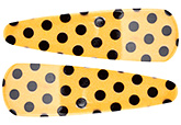 Buy Fab N Funky Big Dot Print Snap Clips Black And Yellow - 1 Pair