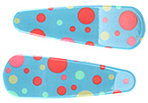 Fab N Funky Circle Print Snap Clips Multicolor - 1 Pair
