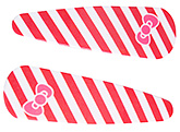 Buy Fab N Funky Line And Bow Print Snap Clips Red - 1 Pair