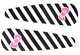 Buy Fab N Funky Line And Bow Print Snap Clips Black - 1 Pair
