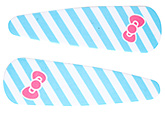 Buy Fab N Funky Line And Bow Print Snap Clips Sky Blue - 1 Pair