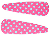Buy Fab N Funky Dot Print Snap Clips Dark Pink - 1 Pair