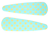 Buy Fab N Funky Dot Print Snap Clips Light Green - 1 Pair