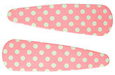 Buy Fab N Funky Dot Print Snap Clips Peach - 1 Pair