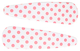 Buy Fab N Funky Dot Print Snap Clips White - 1 Pair