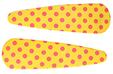 Buy Fab N Funky Dot Print Snap Clips Yellow - 1 Pair