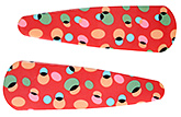 Buy Fab N Funky Big Dot Print Snap Clips Red - 1 Pair