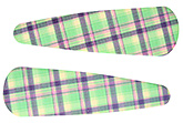 Buy Fab N Funky Checks Print Snap Clips Green - 1 Pair