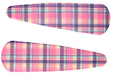 Buy Fab N Funky Checks Print Snap Clips Light Purple - 1 Pair