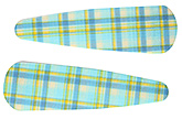 Buy Fab N Funky Checks Print Snap Clips Aqua - 1 Pair